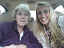 My Gram- the sweetest, funniest, say whats on your mind kind of Grandma. :)
