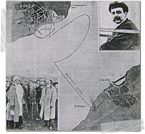 louis Bleriot's flight across english Channel.