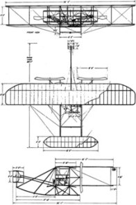 wright military flyer drawing