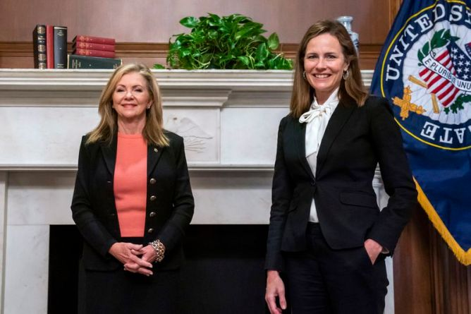 Amy Coney barrett signed second Anti-abortion ads