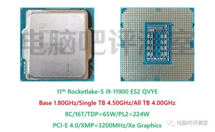 Intel Core i9-11900 8 Core Rocket Lake Desktop ES2 CPU