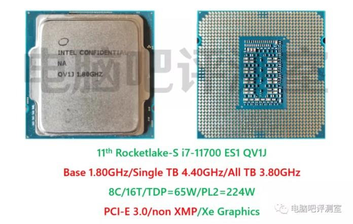 Intel Core i7-11700 8 Core Rocket Lake Desktop ES1 CPU