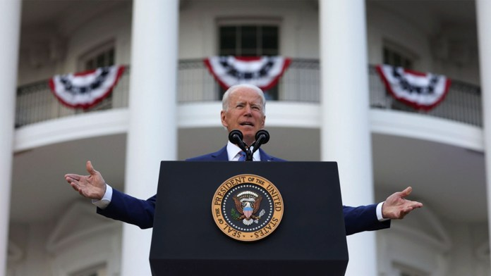President Joe Biden Says COVID-19 Not Yet Vanquished, Addresses Crowd on Independence Day