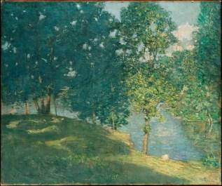 J. Alden Weir, Afternoon by the Pond (c. 1908-9)