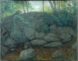 J. Alden Weir, Woodland Rocks (c. 1910-1919)