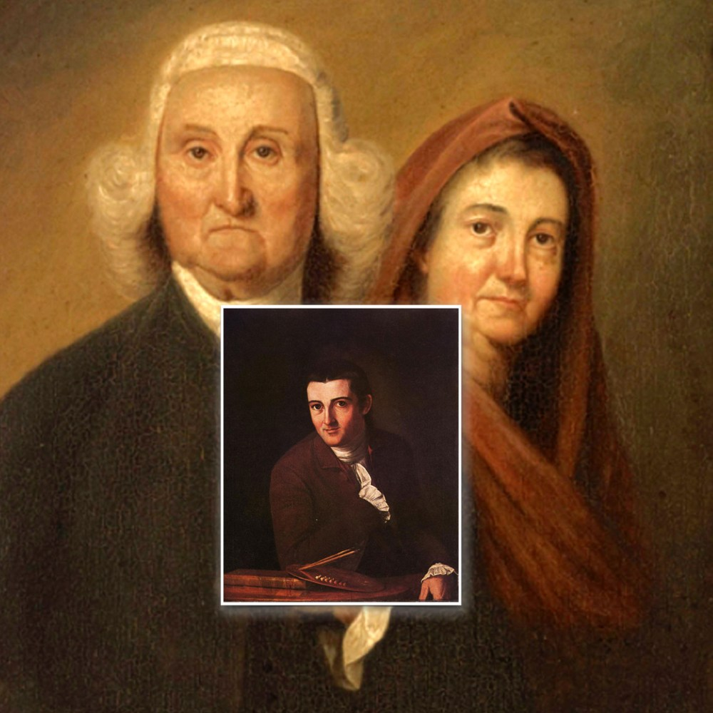 Composite of John Trumbull's Portrait of his Father and Mother and Self-Portrait