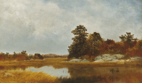"John Frederick Kensett, ""October in the Marshes,"" 1872 (Metropolitan Museum of Art)"