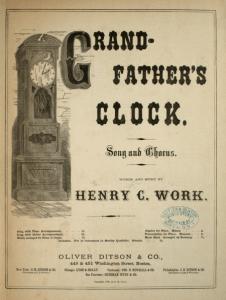 "Work ""Grandfather's Clock"" Sheet much cover"