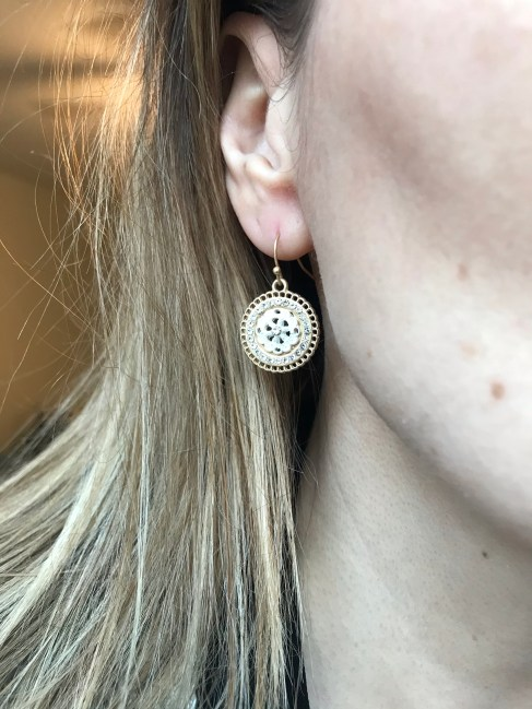 Marlyn Schiff Delilah Round Crystal Earrings