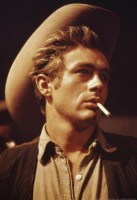 "James Dean in a publicity still from the 1956 movie ""Giant"" Warner Brothers"