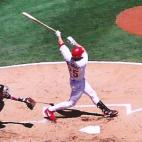 Hitting a home run in St. Louis against the Tigers on July 14, 2001. via Rick Dikeman