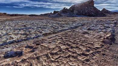 Climate scientists swear there's nowhere drier than Chile's little-known Atacama Desert and in particular the Cordillera de la Sal (Salt Mountains). It was formed million of years ago. It was an old lake