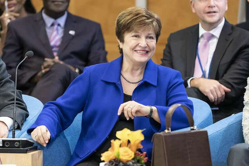 IMF Managing Director Kristalina Georgieva at the International Monetary and Financial Committee (IFMC) Plenary meeting held at IMF Headquarters during the 2019 IMF/World Bank Annual Meetings