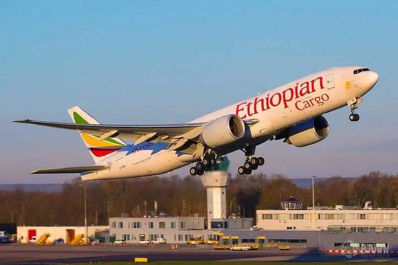 ET-APS Ethiopian Airlines Boeing 777F