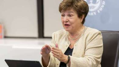 Managing Director Kristalina Georgieva facilitates a discussion on Regional Financing Arrangements during the 2020 Annual Meetings at the International Monetary Fund in Washington