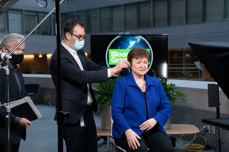 Managing Director Kristalina Georgieva participates in a Bloomberg Green interview. IMF Photo/Kim Haughton 22 January 2021 Washington