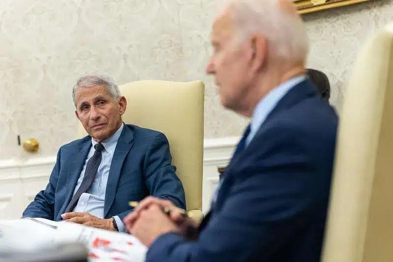 President Joe Biden receives a briefing on COVID-19 on Friday
