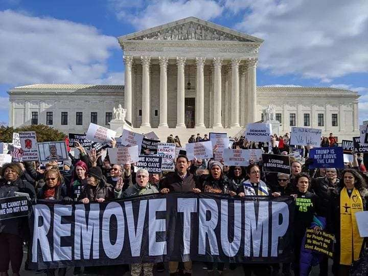 protesters demanding removal of trump