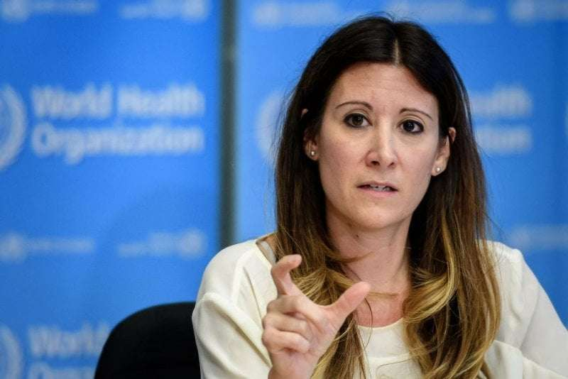 World Health Organization Technical Lead Maria Van Kerkhove during a press briefing in Geneva on March 9