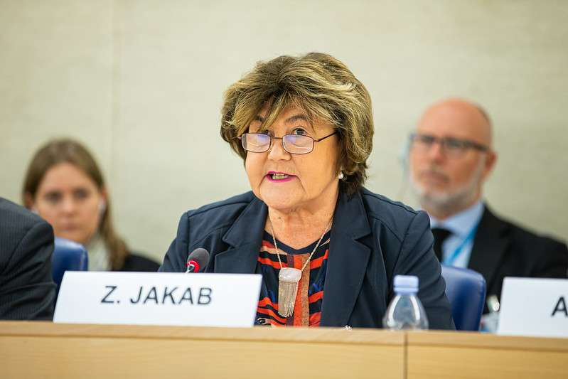 Dr. Zsuzsanna Jakab, Deputy Director-General of the World Health Organization, during the Annual high-level discussion on human rights mainstreaming. 43rd session of the Human Rights Council , Palais des Nations, Geneva, Switzerland, February 24, 2020. UN Photo/Pierre Albouy