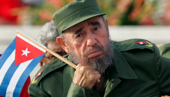 File photo of Cuban President Castro attending May Day parade in Revolution Square