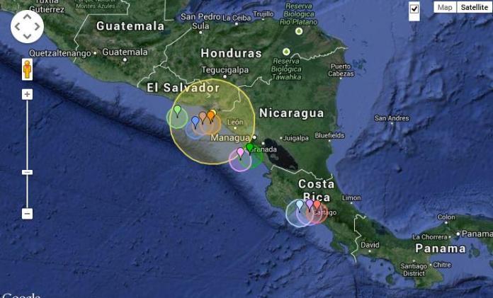 Two Strong Earthquakes Shake Nicaragua's Pacific Coast