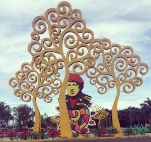 The Sandinista government's tribute to Hugo Chavez in Managua