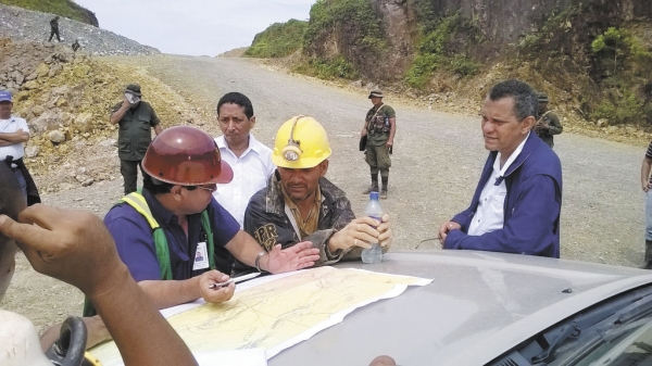 Rescue workers planning strategy to reach the missing and trapped miners
