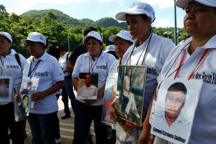 Central American mothers in search of their children who went missing on their way to the United States take part in a caravan that set out on Nov. 10 and is set to reach the Mexico-U.S. border on Dec. 2. Credit: Courtesy of the Mesoamerican Migrant Movement