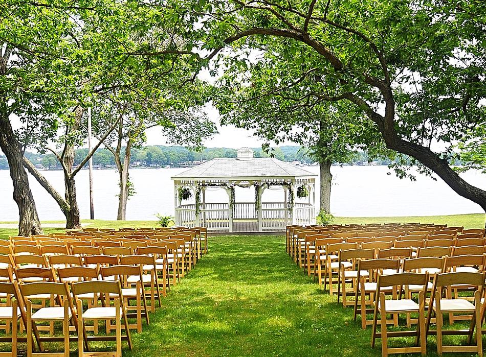 Tudor House on the Portage Lakes Waterfront  Todays Bride