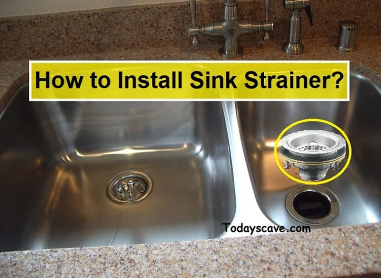 how to install sink strainer step by