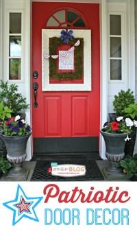 DIY Patriotic Door Decorations - Today's Creative Life