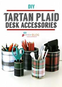 Tartan Plaid Desk Accessories