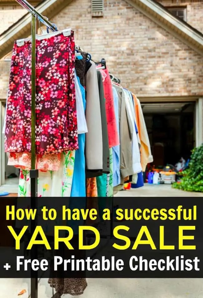 Yard Sale Images Free : images, Successful, Sale!, Printable, Checklist
