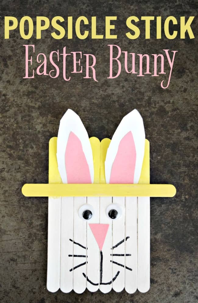 Popsicle Stick Easter Bunny Craft Today S Creative Ideas