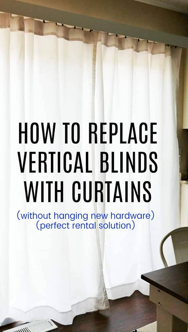 how to replace vertical blinds with