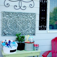 Green Patio Chair Covers High For Outdoor Wall Art {diy}   Today's Creative Life