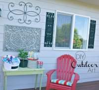 Outdoor Wall Art {DIY}   Today's Creative Life