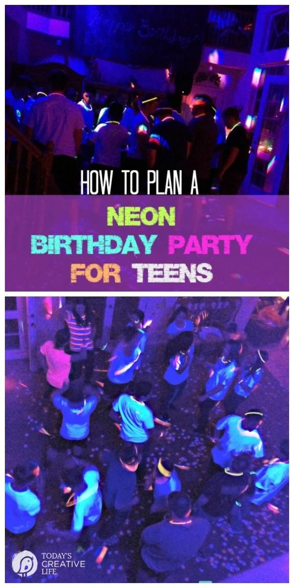 neon birthday party for