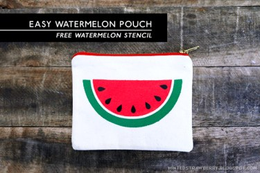 watermelon slice pouch stencil template easy diy creative today