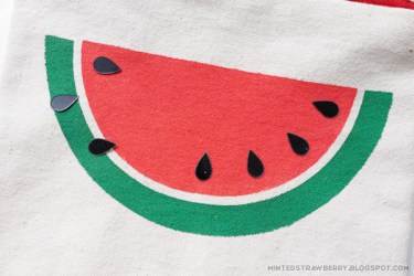 watermelon slice stencil template pouch easy cut seeds paint diy peel dry wait half position inner