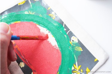 watermelon slice stencil easy pouch diy circle half paint template wait dry outer inner paintbrush careful edges around