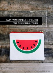 watermelon pouch stencil slice easy diy stencils hope template inspired own bag ve check projects these