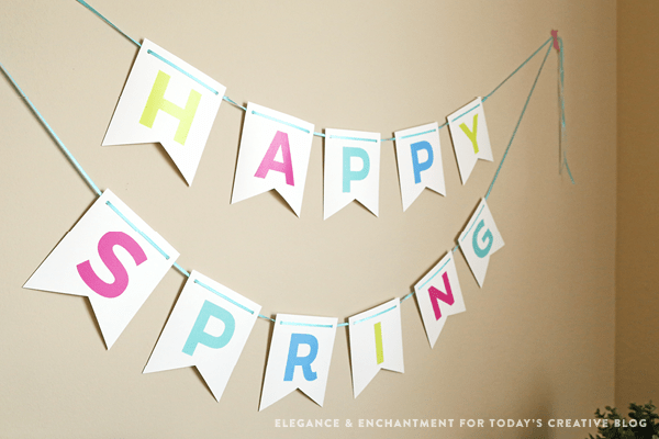 Free Printable Spring Bunting | Easter Printables | designed by Elegance and Enchantment | TodaysCreativeblog.net