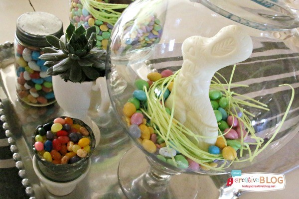 Natural Wooden Bunny Easter Table Settings