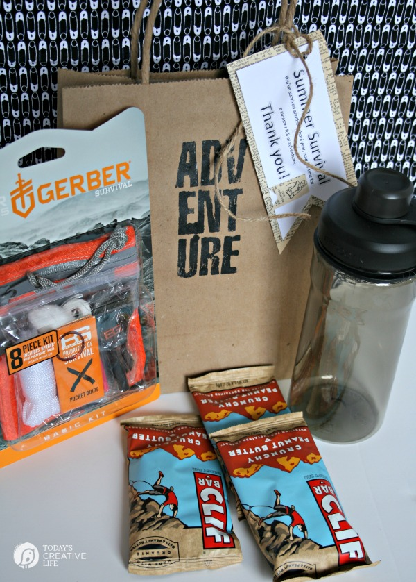 Male Teacher Gift Summer Survival Kit Todays Creative