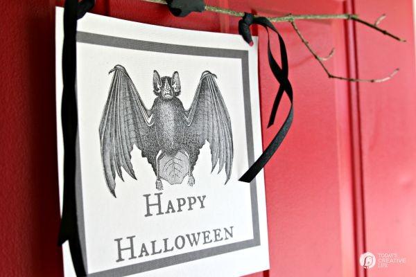 diy halloween door decor