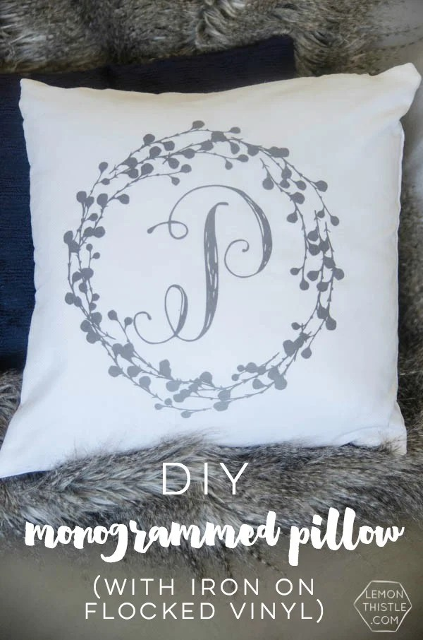 DIY Monogram Pillow Tutorial  Todays Creative Life