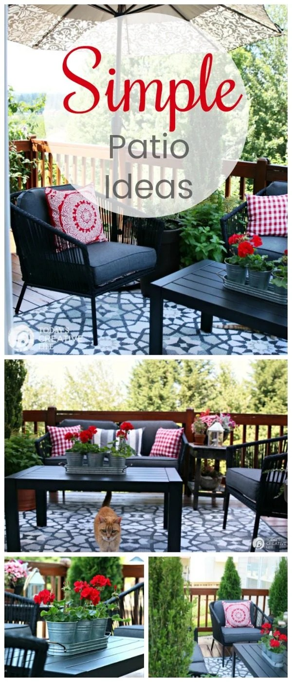 Small Patio Decorating Ideas  My Patio  Todays Creative Life