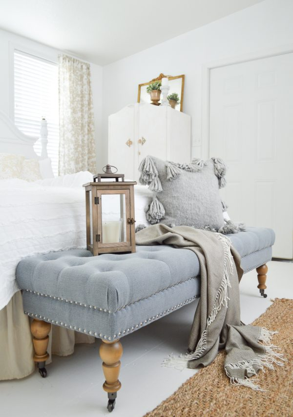 Vintage Guest Bedroom Makeover by Fox Hollow Cottage.